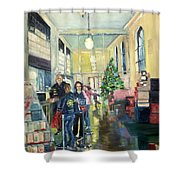 Bay City Post Office Shower Curtain