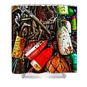 Bay Front Buoys Shower Curtain