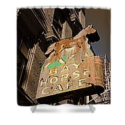 Bay Horse Cafe Sign Shower Curtain