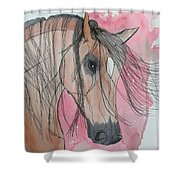 Bay Horse Watercolor Shower Curtain