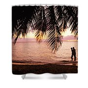 Bay Islands At Sunset Shower Curtain