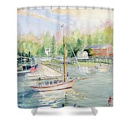 Bay Lady  Shower Curtain