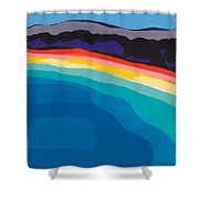 Bay Of Angels Shower Curtain