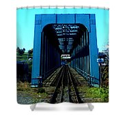 Bay Of Fundy Train Trestle Shower Curtain
