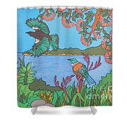 Bay Of Islands Beauties Shower Curtain