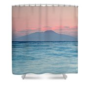 Bay Of Naples And Vesuvius From Capri Shower Curtain