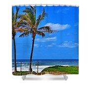 Bay Of Plenty 2 Shower Curtain by Jeremy Hayden