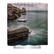 Bay Of The Gulf Of Poets Shower Curtain