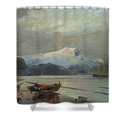 Bay With Boats Shower Curtain