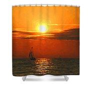 Bayfield Sunset - 1 Shower Curtain