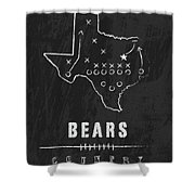 Baylor Bears / Ncaa College Football Art / Waco Texas Shower Curtain by Damon Gray