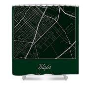 Baylor Street Map - Baylor University Waco Map Shower Curtain