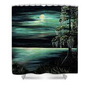 Bayou By Moonlight Shower Curtain