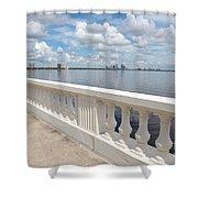 Bayshore Boulevard Balustrade Shower Curtain