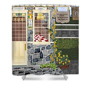 Bayside Inn And Tavern In Ireland Shower Curtain