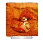 Bb-8 In The Desert - Da Shower Curtain
