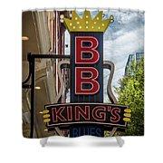 Bb King's Blues Club - Honky Tonk Row Shower Curtain