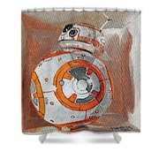 Bb8 In A Box Shower Curtain