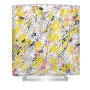 Bumble Bees Against The Windshield - V1cm89 Shower Curtain