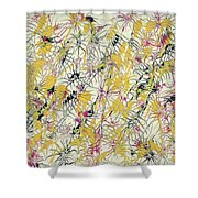Bumble Bees Against The Windshield - V1cs65 Shower Curtain