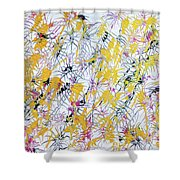 Bumble Bees Against The Windshield - V1lllt46 Shower Curtain