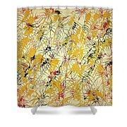 Bumble Bees Against The Windshield - V1ls75 Shower Curtain