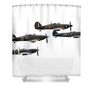 Bbmf Flight - High Key Shower Curtain