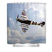 Bbmf Spitfire Ab910 Shower Curtain