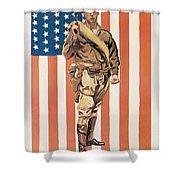 Be A U.s. Marine Shower Curtain