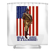 Be A Us Marine Shower Curtain