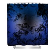Be Calm And Love Art Shower Curtain