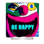 Be Happy Clown 2 Shower Curtain