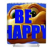 Be Happy Dino Shower Curtain