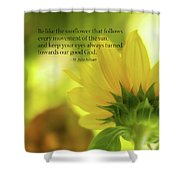 Be Like The Sunflower Shower Curtain