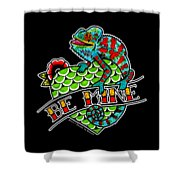 Be Mine Panther Chameleon Shower Curtain