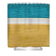 Beach Abstract  Shower Curtain