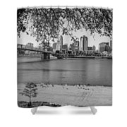 Beach An Cincinnati Skyline  Shower Curtain