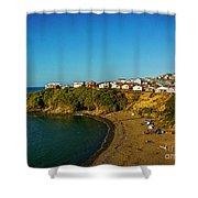Beach - Ancud Chiloe Shower Curtain