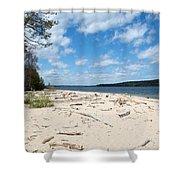 Beach And A Lake Shower Curtain