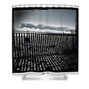 Beach And Fence Shower Curtain