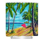 Beach And Mokulua Islands  #368 Shower Curtain