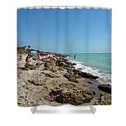 Beach And Rocks Shower Curtain