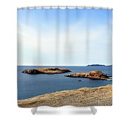 Beach And Rocky Shoreline Shower Curtain