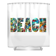 Beach Art - Beachy Keen - By Sharon Cummings Shower Curtain