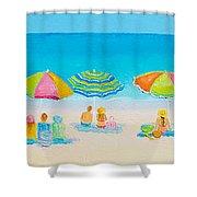 Beach Art - Crazy Lazy Summer Days Shower Curtain