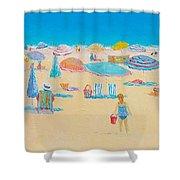Beach Art - Every Summer Has A Story Shower Curtain