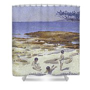 Beach At Cabasson Shower Curtain