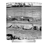 Beach At Dominican Republic Shower Curtain