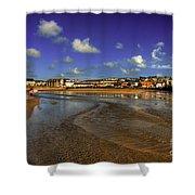 Beach At Perranporth Shower Curtain
