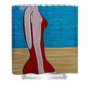 Beach Babe Shower Curtain